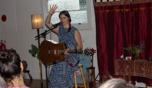 """Annie Bryant, Byron Circle of Tellers member tells and sings her original historical tale 'The Girl of Mullumbimby Grass"""""""