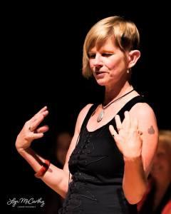 Jenni tells 'The Quim's Tale' at the Byron Theatre