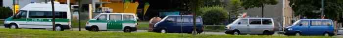 Heute in friedlicher Mission unterwegs: Polizeiwagen in Berlin