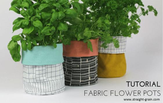fabric flower pots tutorial