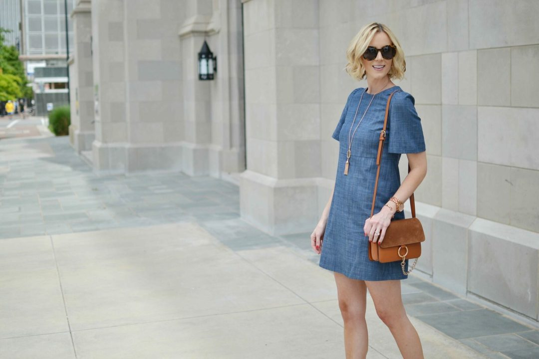 WAYF chambray dress 2