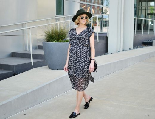 madewell-boho-dress-olive-hat-and-slides