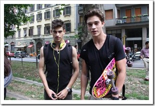 Gabriel Burger and Francisco Lachowski in Milan
