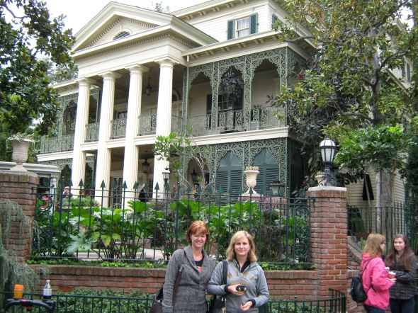 Me and my good friend in front of the Haunted Mansion