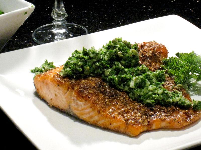 Coriander encrusted Salmon