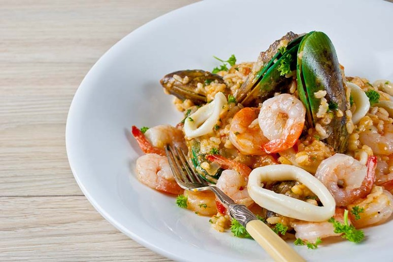 Seafood Risotto - low Fodmap
