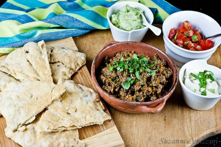 Pita Bread and Mexican Spread - grain-free & fructose intolerant friendly