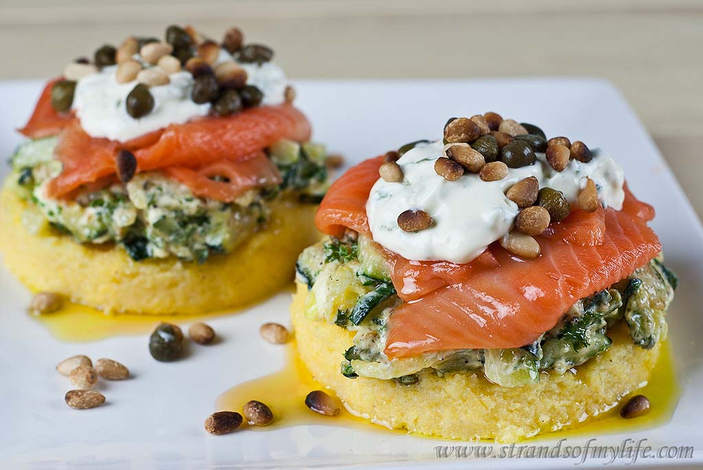 Salmon & Courgette Stacks - gluten free & low FODMAP