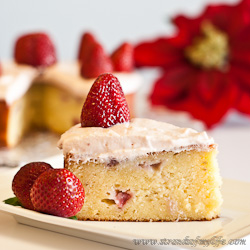 Strawberry Potato Cake - gluten-free and low FODMAP