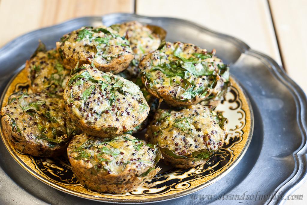 Spinach Quinoa Quiches - Low Fodmap & Gluten-Free
