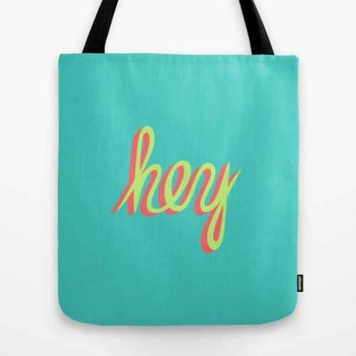 hey tote bag
