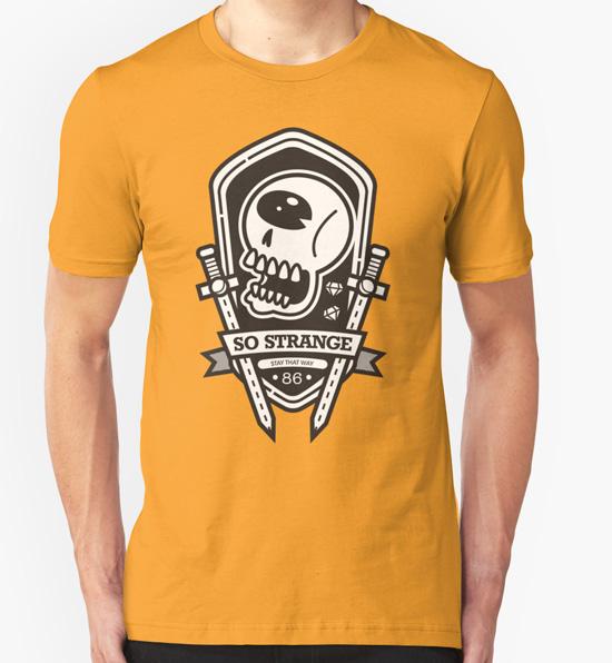 Strange emblem shirt