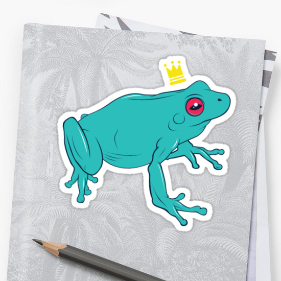 Frog Prince Stickers