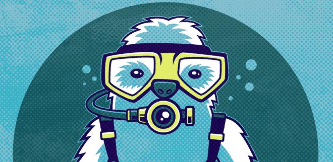 scuba sloth
