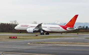 Air India 787 at India Aviation 2012
