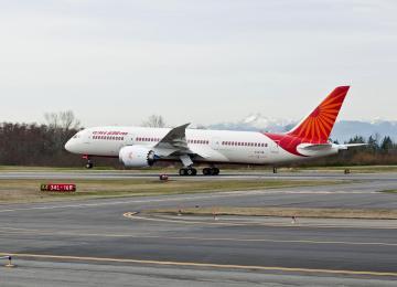 Air India 787 at India Aviation 2012