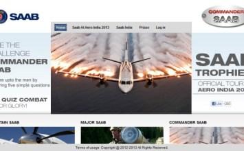 Saab opens Aero India promo contest