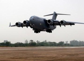 1st IAF C-17 lands in India