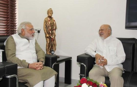 Gujarat Chief Minister Narendra Modi with Bangladesh High Commissioner Tariq A. Karim.