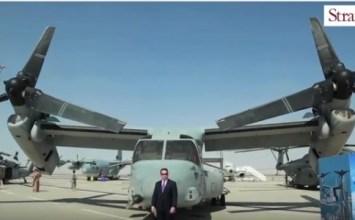 Video: US Marine Corps Bell Boeing MV-22 Osprey at Dubai Airshow 2015