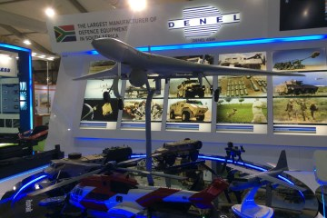 Denel exhibit at DefExpo 2016. Denel Asia, it says. | Photo: StratPost