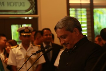 Defense Minister Manohar Parrikar at the Shangri la Dialogue 2016 | Photo: Saurabh Joshi/StratPost