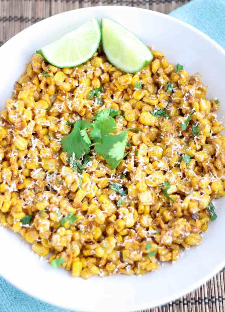Mexican Street Corn Salad (Esquites) - Strawberry Blondie Kitchen