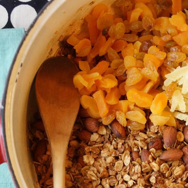 Spiced Maple Molasses Granola
