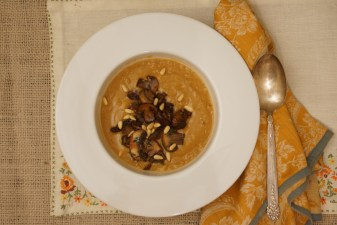 Crema di Ceci with Porcini & Pine Nuts