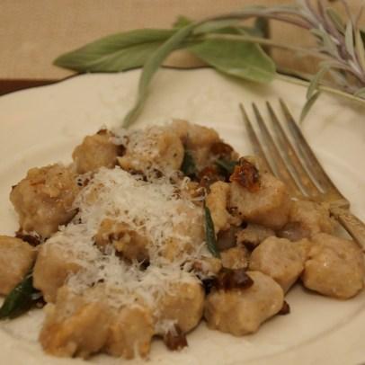 Chestnut Flour Gnocchi in Sage Brown Butter Sauce