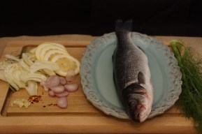 Mediterranean Sea Bass with Fennel and Lemon