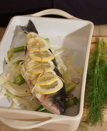 Whole Roasted Branzino with Fennel & Lemon
