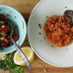 Salmon Tartare with Tomatoes & Capers