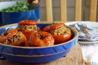 Quinoa & Tuna Stuffed Tomatoes