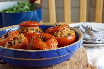 Quinoa & Tuna Stuffed Tomatoes