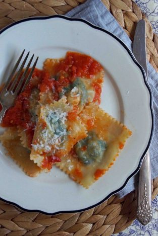 Swiss Chard & Potato Ravioli