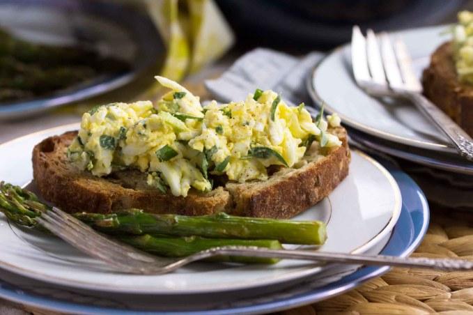 Tarragon, Scallion & Crème Fraîche Egg Salad