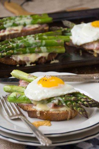 Asparagus & Gruyère Croque Madame