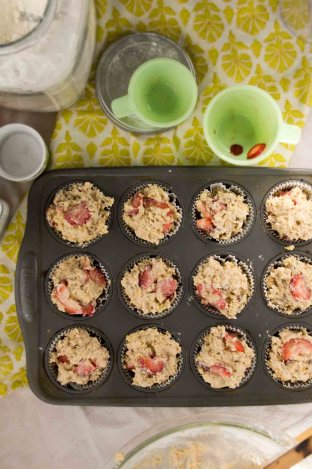 Strawberry-Pecan Oatmeal Muffins