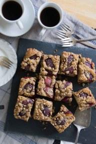 Plum Pecan Streusel Coffee Cake