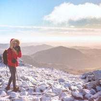 Scafell Pike summit in the Lake District, New Years Day 2017