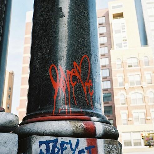 street art graffiti by love me in NYC