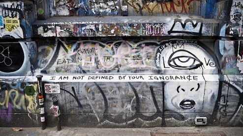 i am not defined by your ignorance street art graffiti by tmnk / nobody