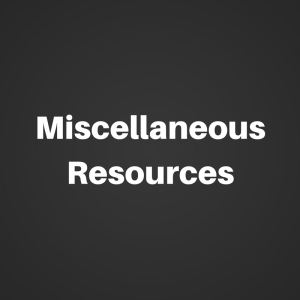 miscellaneous resources