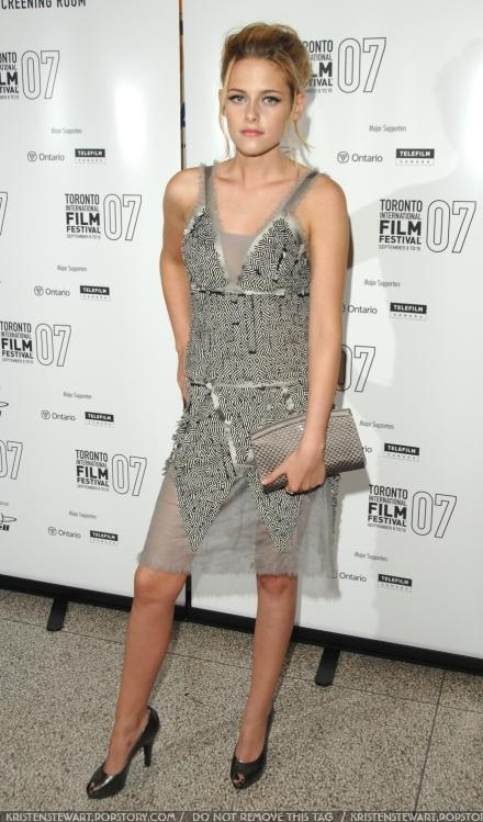 Kristen Stewart at the 2007 Toronto Film Festival courtesy of fanpop.com