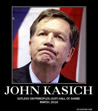 John Kasich GOP Hall of Shame poster