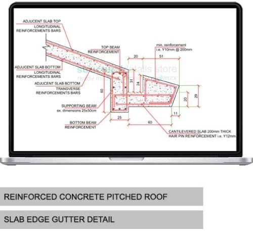 Reinforced Concrete Pitched Roof Apex Slab Reinforcement