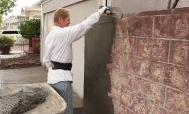 How Thick to apply Render or cement plaster over a cinder block wall