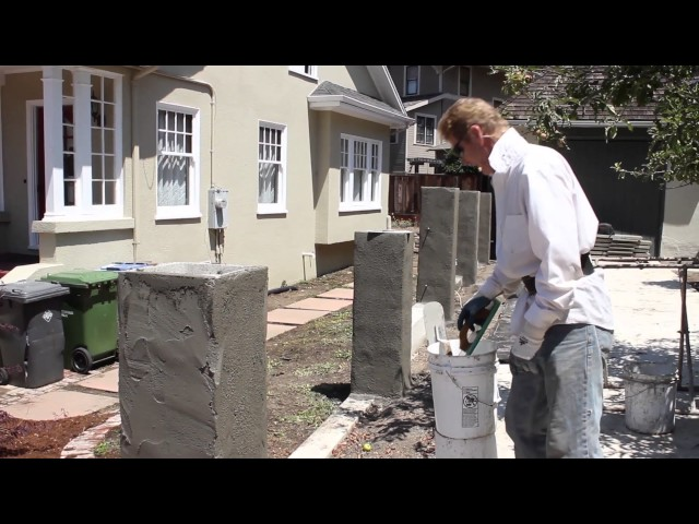 advice on cement rendering over cmu blocks in your garden