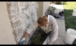 how to apply a skip trowel texture or finish